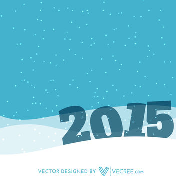 2015 in Snowy Landscape New Year Background - vector gratuit #164443