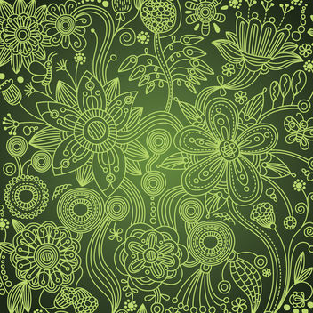 Hand Drawn Linen Seamless Floral Pattern - Free vector #164483