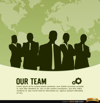 Business team world map background - vector gratuit #164603