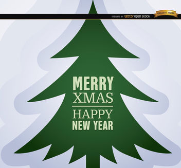 Xmas New Year pine background - vector #164673 gratis