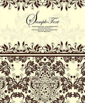 Simplistic Style Front & Back Floral Invitation - Free vector #164703