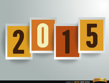 2015 digits in frames Background - Free vector #164833