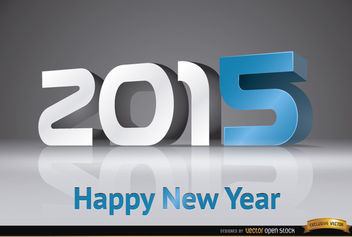 2015 New Year modern number background - vector gratuit #165083