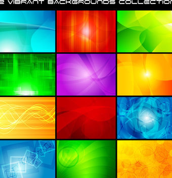 Beautiful Glowing Multicolor Creative Background Set - vector #165103 gratis