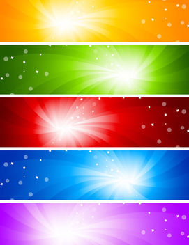 Multicolor Sun glare Banner Backgrounds - бесплатный vector #165113
