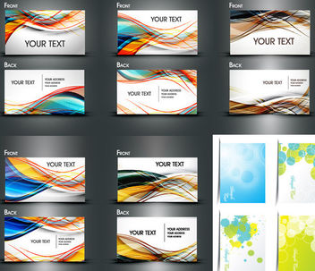 Multicolor Both Sided Dynamic Business Card Pack - Free vector #165233