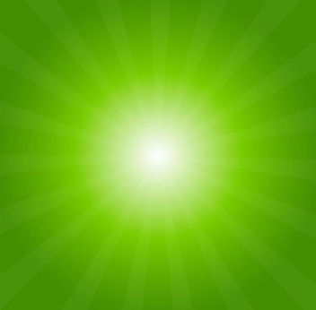 Shiny Green Sunburst Background - vector #165243 gratis