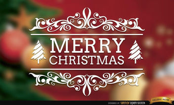 Merry Christmas swirls elegant background - vector gratuit #165273