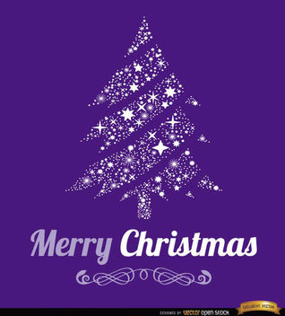 Merry Christmas tree background - vector gratuit #165293
