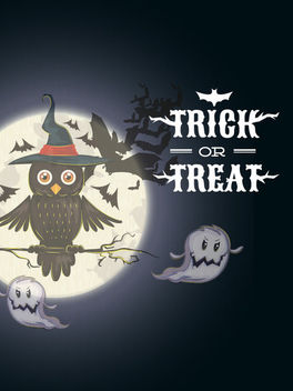 Halloween Poster with Owl Sitting on a Tree - Free vector #165303