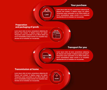 Ecommerce Business Modern Infographic Template - vector #165323 gratis