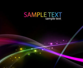 Dynamic Colorful Lines & Glares on Dark Background - бесплатный vector #165703