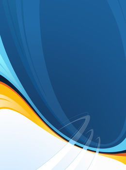 Abstract Orange Splitted Blue Waves Background - Free vector #165733