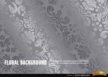 Silver floral background - vector gratuit #165753