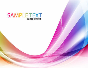 Colorful Abstract Waves & Spirals Background - Free vector #165803