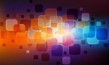 Glossy Abstract Colorful Squares Background - vector #165813 gratis