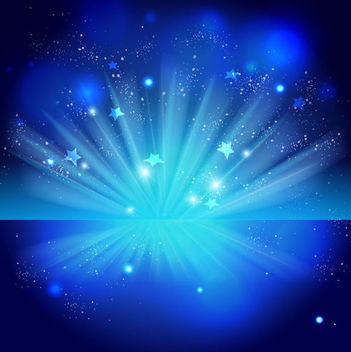 Sparkling Blue Celebration Night Background - vector gratuit #165853