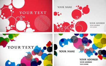Circular Bubbles Business Card Set - Free vector #165973