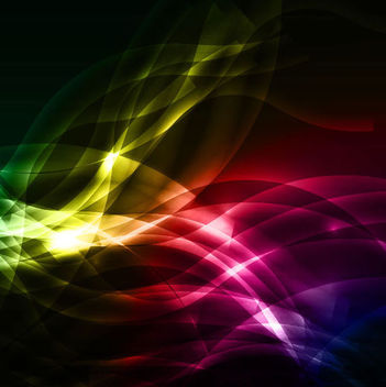 Colorful Overlapping Curves & Waves Background - бесплатный vector #166103