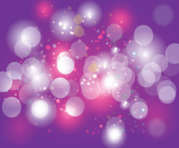 Shiny Bokeh Bubbles over Purple Background - бесплатный vector #166153