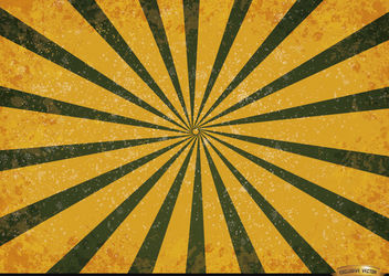 Orange green radial stripes grunge background - Free vector #166183