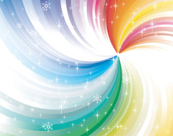 Rainbow Vortex Background with Sparkles - Free vector #166223
