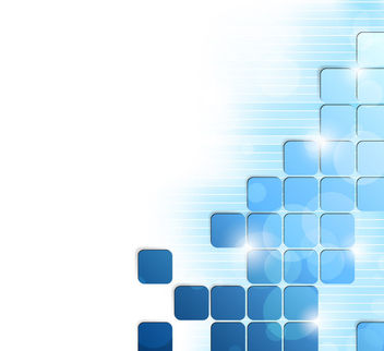 Glowing Blue Puzzling Squares Background - vector gratuit #166283