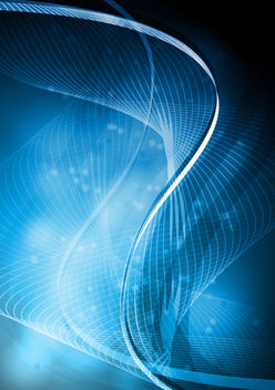 Twisted Glow Blue Spiral Lines Background - Free vector #166293
