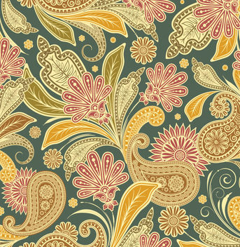 Beautiful Retro Floral Seamless Pattern - бесплатный vector #166353