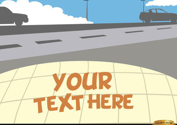 Cars on the road with text space - vector gratuit #166543