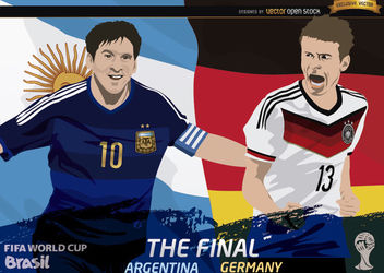Final Argentina Germany FIFA World Cup - бесплатный vector #166553