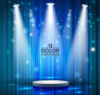 Stage Lighting Blue Linen Background - vector gratuit #166593