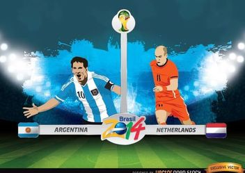 Argentina Vs. Netherlands FIFA World Cup - Free vector #166633