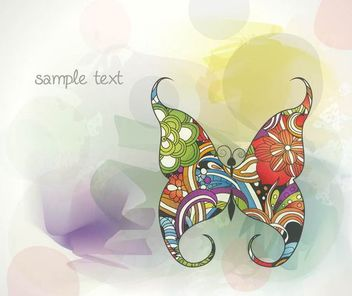 Colorful Abstract Background with Butterfly - vector #166823 gratis