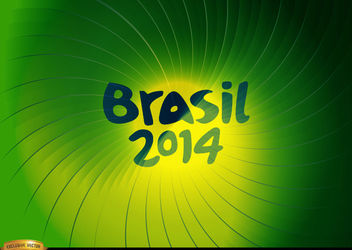 Brasil 2014 Green whirl background - Kostenloses vector #166883