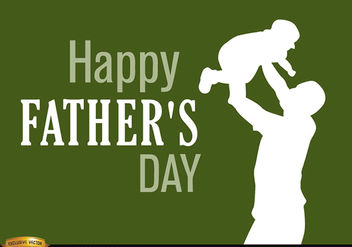 Father's day dad raising baby - vector #166913 gratis