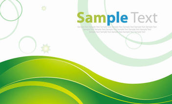 Fresh Business Background with Green Waves & Circles - Kostenloses vector #166943