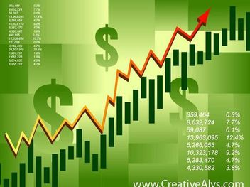 Green Financial Stock Infographic Background - vector gratuit #166973
