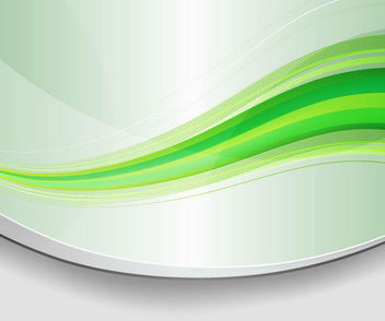 Abstract Green Waves Background with Curves - Free vector #167023
