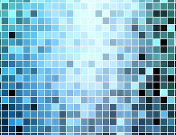 Blue Square Mosaic Tiles Background - Free vector #167053
