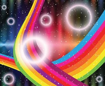 Shiny Circles Rainbow Stripes Abstract Background - vector gratuit #167073