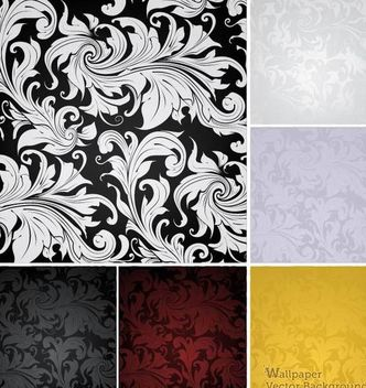 Classic Style Vintage Floral Pattern - vector #167133 gratis