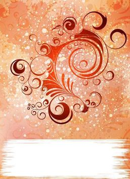Colorful Grungy Background with Swirls - vector gratuit #167163