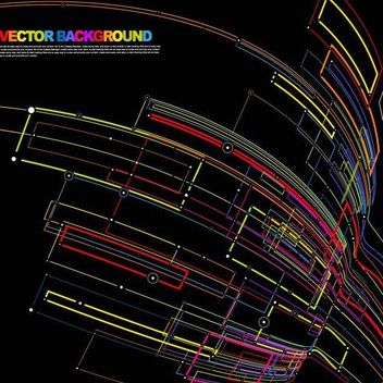 Dynamic Colorful Flow Lines Background - vector gratuit #167193