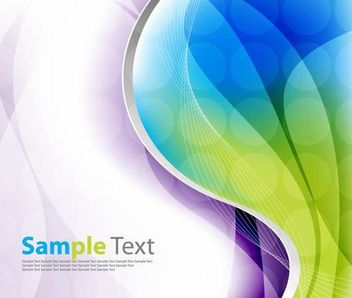 Colorful Wave and Spiral Line Background - Free vector #167203