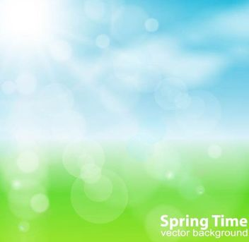 Spring Sun Nature Background - Free vector #167243