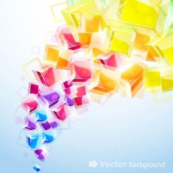 Colorful Background with Fluorescent Cubes - vector gratuit #167253