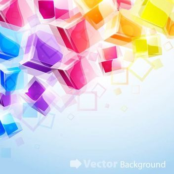 Colorful 3D Cubes Background - vector gratuit #167273