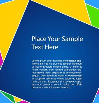 Colorful Square Background Template - vector gratuit #167283
