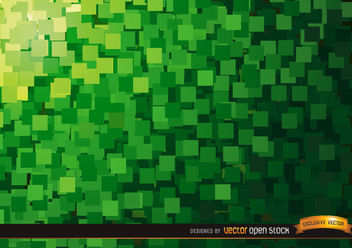 Abstract Green squares background - vector #167293 gratis